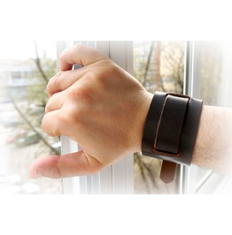 Bdsm Jewelry Mens Submissive Dominant Leather Cuff Bracelet Handcuffs Man