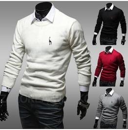 Men's Slim Fit Pullover Sweater