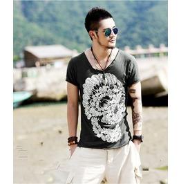 Men's Skull Print Short Sleeve Summer T Shirt