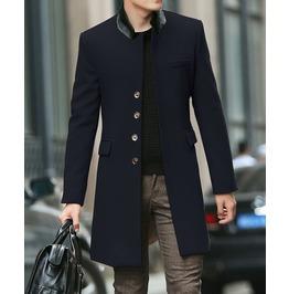 Men's Black/Navy/Brown Long Slim Jacket