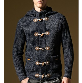 Men's Casual Hooded Cardigan