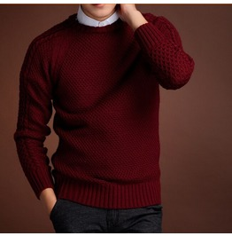 Men's Knitted Warm Slim Fit Casual Sweater