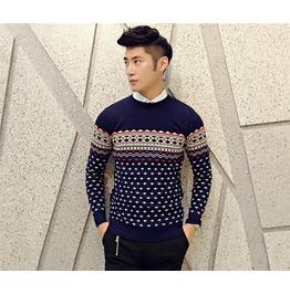 Men's Striped Casual Slim Fit Sweater
