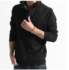 Men's High Neck Sweater
