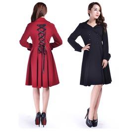 Black Red Gothic Over Coat Corset Back Jacket Reg& Plus Size $9 To Ship