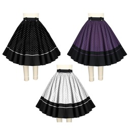 Polkadot Rockabilly Pin Up 50s Retro Swing Skirt Reg Plus Size Free To Ship