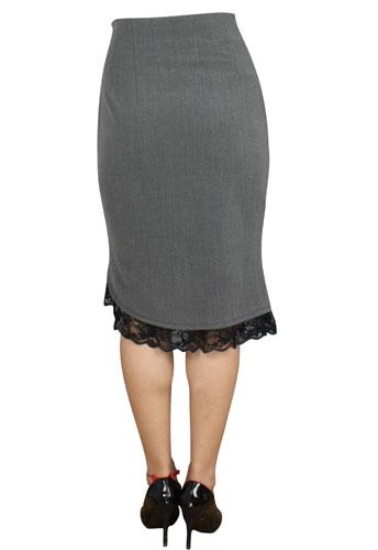 black gray pin up rockabilly pencil skirt reg plus sizes