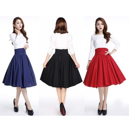 Black Red Blue Pin Up Rockabilly Swing Skirt Reg & Plus Sizes $9 To Ship