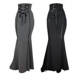 Black Or Gray Long Mermaid Fishtail Corset Skirt Reg& Plus Sizes $9 To Ship