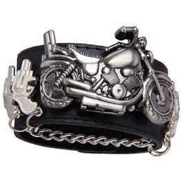 Motorcycle Harley Chain Pistol Wrist Watch