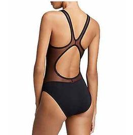 Cool Swimwear Black Mesh Unique Design Size Small 8 Uk 4 Us