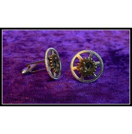 Silver And Bronze Steampunk Cuff Links