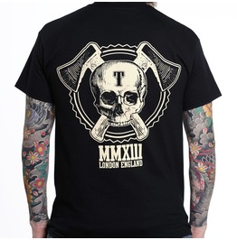 Toxico Clothing Black Axe Skull Logo T Shirt