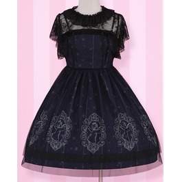 Lolita Dress With Black Lace Veil Tunic