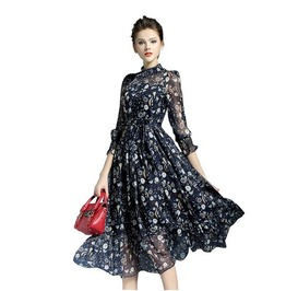 Beautiful Assorted Print Flared Skirt Dress