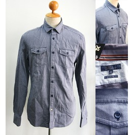 New Men Fitted Style Long Sleeve Shirt Casual Size M