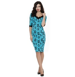 Voodoo Vixen Cool Kat Wiggle Dress