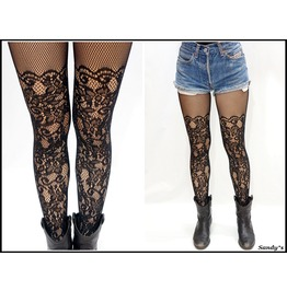 Lace Thigh High Fishnet Pantyhose/ Stockings/ Tights