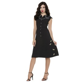 Voodoo Vixen Darlene Bee Print Dress