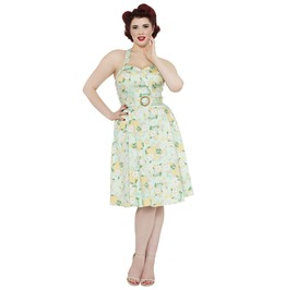 Voodoo Vixen Layla Tropical Inspired Pineapple And Floral Dress