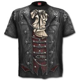 Spiral T Shirt Gothic Wrap Victorian Steampunk