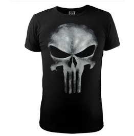 The Punisher Skull Printed Men's Black Cotton T Shirt