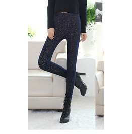 Women's Victorian Look Black Lace Gothic Leggings