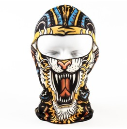 Printed Unisex Black Lion Full Face Mask
