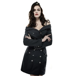 Military Pinup Vintage Retro Cosplay Blue Coat Dress