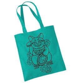 Toxico Clothing Green Lucky Cat Bag