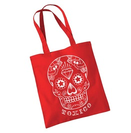 Toxico Clothing Red Dt Skull Bag