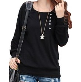 Women's Long Batwing Sleeve Buttoning Blouse