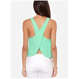 Sexy Backless Sleeveless Strap Tank Multicolor