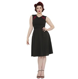 Voodoo Vixen Heather Black Perfect Day Time Dress