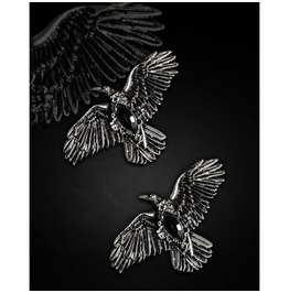 Restyle Gothic Victorian Hairclips With Crows Ravens Flying Romantic