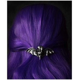 Restyle Gothic Victorian Hairclip With Bird Skull Raven Crow Bat Wings