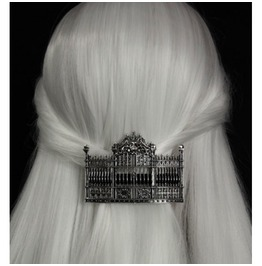 Restyle Gothic Lolita Victorian Hairclip Barette Gates Cemetery