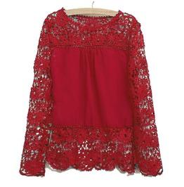 Women's Lace Hollow Out Crochet Blouse