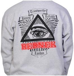 Toxico Clothing Gray Rednek Ace Crew Neck Sweatshirt