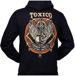 Toxico Clothing Black Axe Skull Logo Ziphood