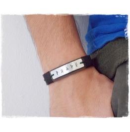 Runic Leather Bracelet, Leather Viking Bracelet, Norse Bracelet Cuff