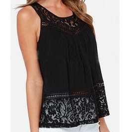 Women's Chiffon Lace Crochet Blouse