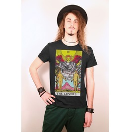 The Lovers Tarot Number Vi Black Tee