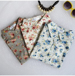 Long Sleeve Vintage Blouse Turn Down Collar Cotton Shirt Blusas