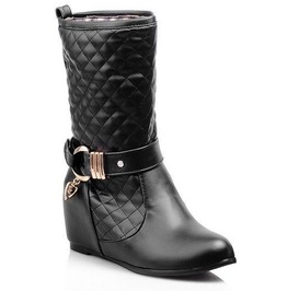 Women's Gothic Faux Leather Winter Boots