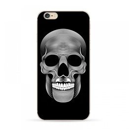 Skull I Phone Case Black