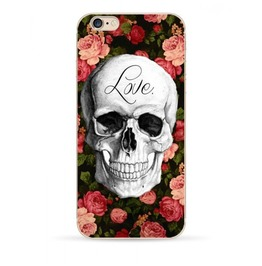 Skull And Roses I Phone Case