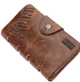 Retro Folding Card Pack Men's Leather Wallet