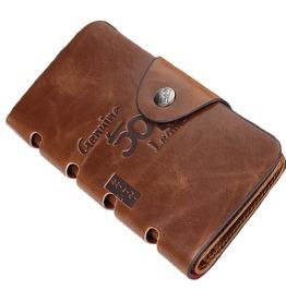 Folding Card Pack Men's Leather Wallet