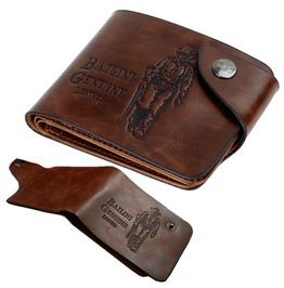 Men's Vintage Coffee Leather Purse Men's Solid Lether Card Wallet